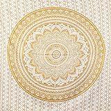 MOMOMUS Tenture Mandala - Arbre - 100% Coton, XXL, Polyvalent - Grande Serviette/Drap de Plage -...