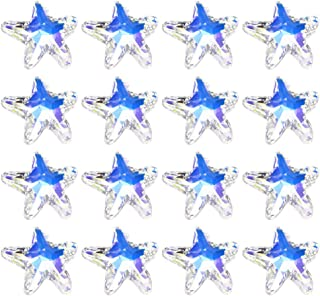 SUPVOX 100pcs Star Charms Glass Crystal Rhinestones Pendants Charms Loose Beads for Jewelry Making DIY Necklace Bracelet 14mm