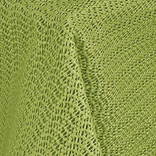 JEMIDI Gartentischdecke Wetterfest Rund oder Eckig Tischdecke Garten Tisch rutschfest Tischdecken Grün Rund Durchmesser 160cm