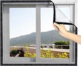 Loboo Idea Glasvezel venster scherm gaas gordijn, doe-het-zelf zelfklevend venster net scherm met haak en kleverige tape, ...