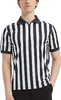 comprar comparacion TopTie Sportwear - Camisa de árbitro con cremallera para hombre