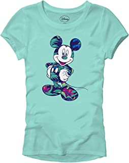 Mickey Mouse Tropical Mint Green Disneyland World Tee Funny Humor Women's Juniors Slim Fit Graphic T-Shirt Apparel