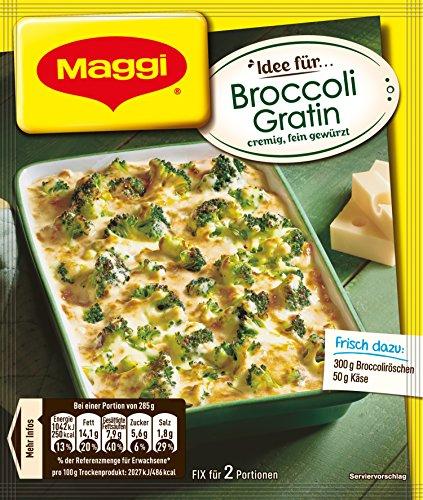 Maggi Fix für Broccoli Gratin, Broccoli in cremiger Sauce mit Käse überbacken, 1er Pack (1 x 40g)