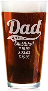 Best personalised pint glass daddy Reviews