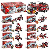Nano Block Building Block Toy City Fire Brigade Building Block, Compatible con Juguetes De Marca, 8...