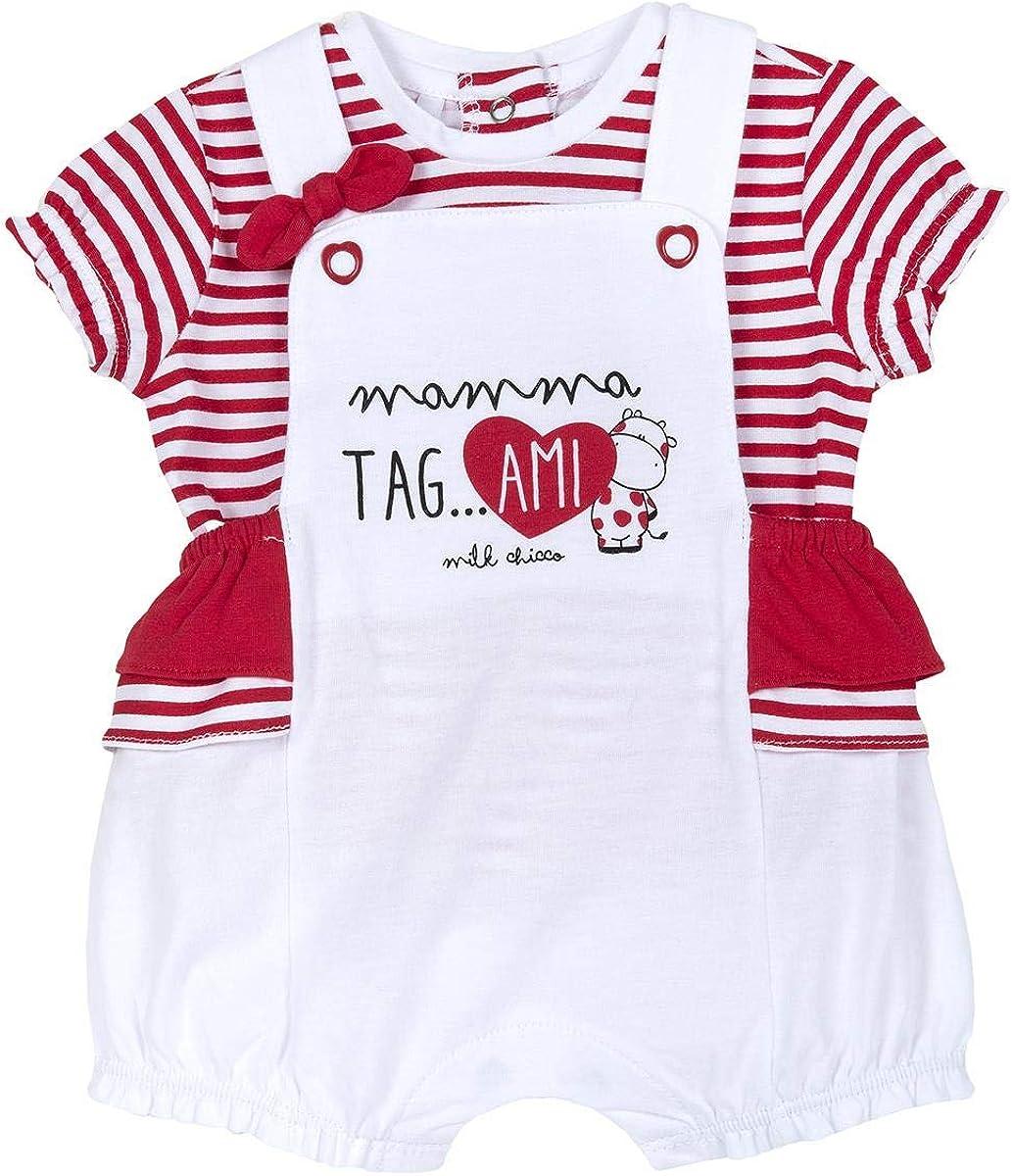 Chicco Completo T-Shirt Manica Salopette Corta Peto Bebe para Beb/és