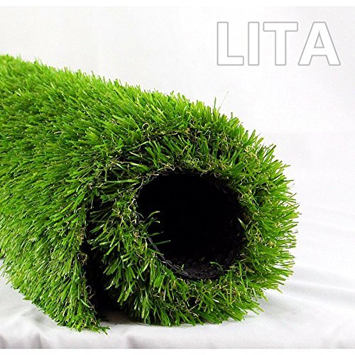 LITA Premium Artificial Grass Realistic Fake Grass Deluxe Turf Synthetic Turf Thick Lawn Pet Turf Perfect for Indoor Outdoor Landscape Customized 4FTx13FT(52SF)