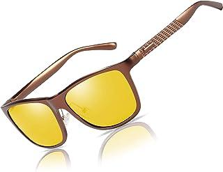 52f9aefe5f2 Bircen HD Night Vision Driving Anti-Glare Glasses for Men Women Al-Mg Metal