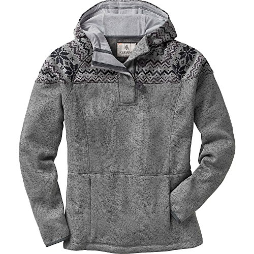 Legendary Whitetails Ladies Atomic Fleece 1/4 Zip Hoodie Charcoal Heather Medium