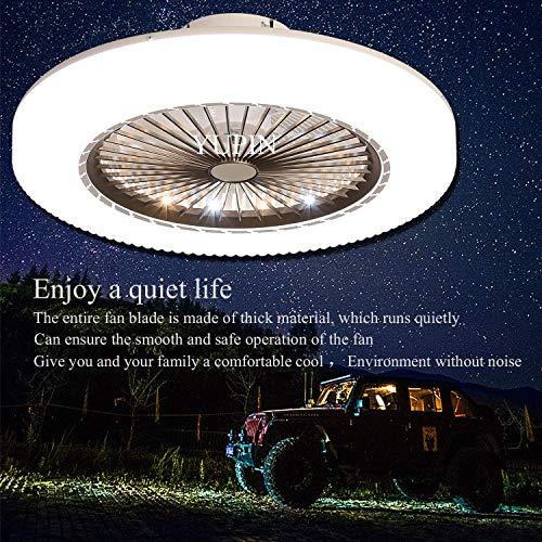 LED Fan Deckenleuchte Deckenventilator Moderne Kreativität Ventilator Schlafzimmer Deckenleuchte mit Fernbedienung Dimmbare Stille Wohnzimmer Lampe Büro Kinderzimmer Deckenventilator mit Beleuchtung L