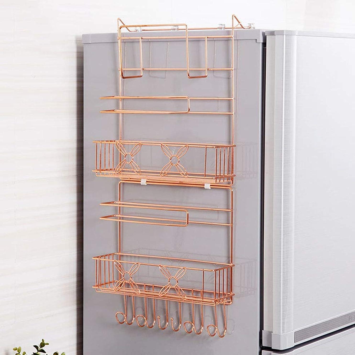ソケット比類のない恐ろしい多層収納ラックキッチンラック丈夫で丈夫な多機能オーガナイザー冷蔵庫サイドスパイス収納収納ボックス省スペース