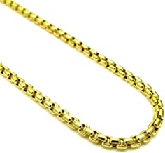 Pori Jewelers 10K Yellow Gold 3.5mm Thick Round Box Chain Necklace - Multiple Lengths Available