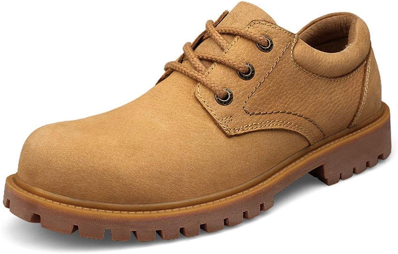 Zhangcaiyun Lederschuhe für Männer Mode-Stiefeletten Klassische britische Art Komfortable Komfortable Komfortable Wear-Arbeitsschuhe Business Oxford Schuhe (Farbe   Gold, Größe   36 EU)  57dc18