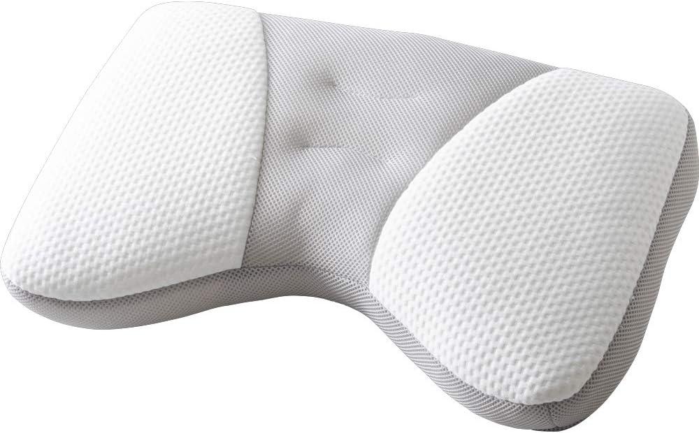 アイリスプラザ 横向き寝に適した高さ調整パイプ枕