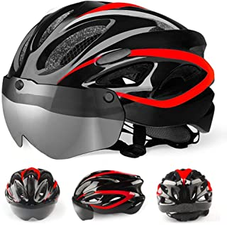 ZGYQGOO Bike Cycle Bicycling Helmet 57-62cm Lightweight Bicycle Helmet with Reflective Stripe Adult Cycling Bike Helmet Specialized for Men Women