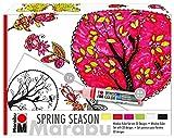 Marabu 0406000000124Spring Season abziehbare Couleur Kit Complet avec écran et malvorlage pour fenêtre/Miroir/Carreaux