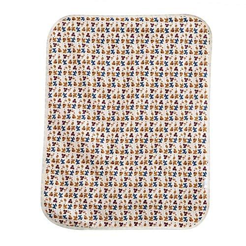 Protector de colchón reutilizable e impermeable para bebés, Paño de algodón infantil impermeable Estera reutilizable del cojín del orinal Estera de cambiante (dog)