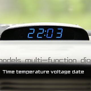 PolarLander 12V Car 3 In 1 Car Clock Theromometer and Voltage Monitor Seven kinds of display mode