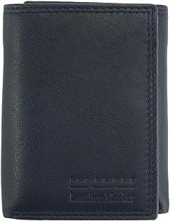 Portafoglio Valter TRI-FOLD da uomo in pelle morbida - PF52P - Portafogli in pelle (Blu scuro)