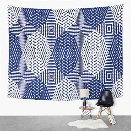 Y·JIANG - Tapiz abstracto, diseño geométrico abstracto para el hogar, dormitorio, manta para colgar en la pared para sala de estar, dormitorio, 60 x 80 pulgadas