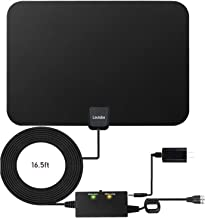 Amplified HD Digital TV Antenna,Skywire TV Antenna 80 Miles Range, Support 4K 1080P, All Older TV's for Indoor Amplified Digital TV Antennas with Switch Console, Signal Booster USB Power Supply
