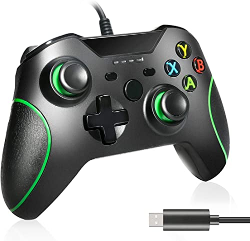Zwini Manette filaire pour Xbox One, manette audio pour casque 3,5 mm Plug and Play Xbox One, manette filaire USB Man...