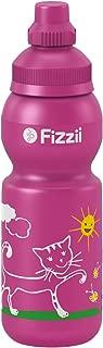 Fizzii Niños 330plástico Botella caño Seguro en carbón Acid, sin sustancias nocivas, Apto para lavavajillas, Gato, 330ml