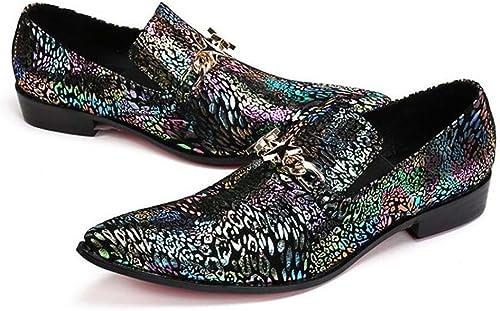 Winklepicker Dedo del pie puntiagudo piel genuina De los hombres Bomba Negocio Casual Los zapatos de cuero zapatos de boda británico Estilo de Inglaterra Mocasines zapatos Monje zapatos perezosos Pelu