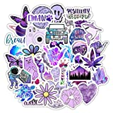 Sunfar 100 PCS Most Popular Purple & Cute Corgis Vinyl Vsco Stickers for Water Bottles,Scrapbooking, Laptop, Hydroflasks, Computer, Phone, Notebook, Desk, Wall, Sticker for Girls Boys Teens Trendy