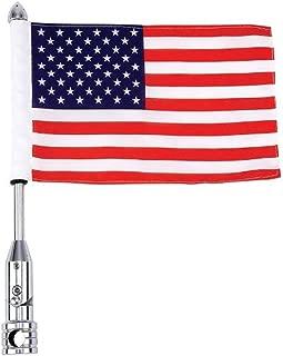Diamond Plate BKFLAGPL Motorcycle Flagpole Mount and American Flag USA, 13