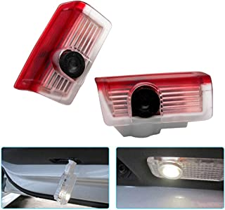 Younar 2PCS Car Door LED Logo Welcome Courtesy Light Projector Wireless Laser HD Shadow Entry Warning Lamps for Mercedes Benz