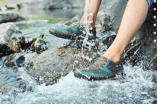 MOHEM Men's Poseidon Slip-On Loafers Water Shoes Casual Walking Shoes(3177black47)