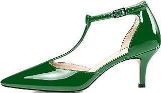 Fashion Femme bout carré et talon bottier Escarpins Chaussures de fête Mary Janes Lacets Chaussures