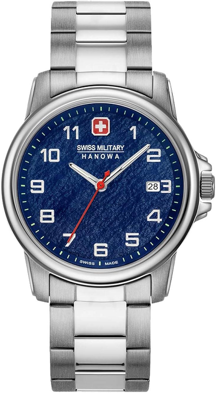 Swiss Military Hanowa Reloj Analógico para Unisex Adultos de Cuarzo con Correa en Acero Inoxidable 06-5231.7.04.003