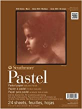"Strathmore 400 Series Pastel Pad, Assorted Colors, 11""x14"" Glue Bound, 24 Sheets"