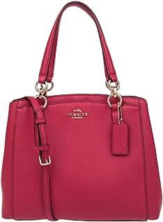 COACH Crossgrain Leather Minetta Crossbody in Bright Pink