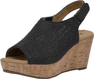 CUSHIONAIRE Women's Wedge Sandal