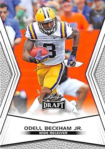 Autograph Warehouse 343710 Odell Beckham Football Card LSU Tigers New York Giants 2014 Leaf product image