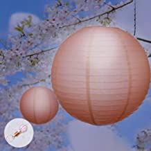 "12"" Paper Lanterns for Wedding Party Festival Decoration - Mix and Match Colours Orange 10"" Warm White - 6000K"