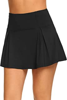 Women's Active Skort Athletic Pleated Lightweight Skirt for Running Tennis Golf Workout Sports