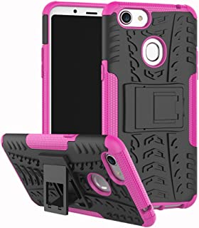 OPPO F5 Case, Ikwcase Heavy Duty Armor Tough Hybrid Shockproof Dual Layer Kickstand Protective Case Cover for OPPO F5 Hotpink