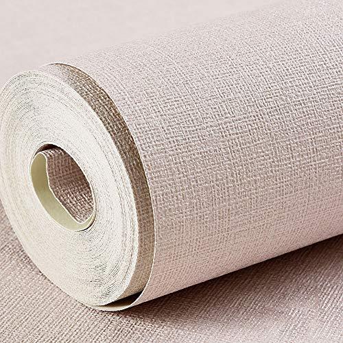PVC waterdicht behang Japanse linnen eenkleurig behang geschikt voor woonkamer slaapkamer gang