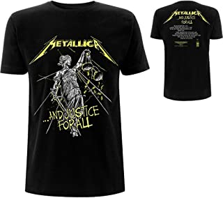 Metallica ...and Justice For All - Tracklist Hombre Camiseta Negro, Regular