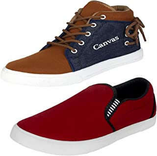 Earton Mens Stylish & Trendy Multicolor Combo Casual Sneakers Shoes (COMBO-678+1058-6_$p)