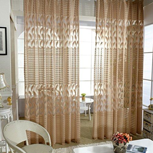 Met Love Moderne Minimaliste Jacquard Rideaux Translucide Salon Warp Screens Baie Fenêtre Balcon Mince Fenêtre Screening 2 Panneaux (taille : L:2.5*H:2.7m)