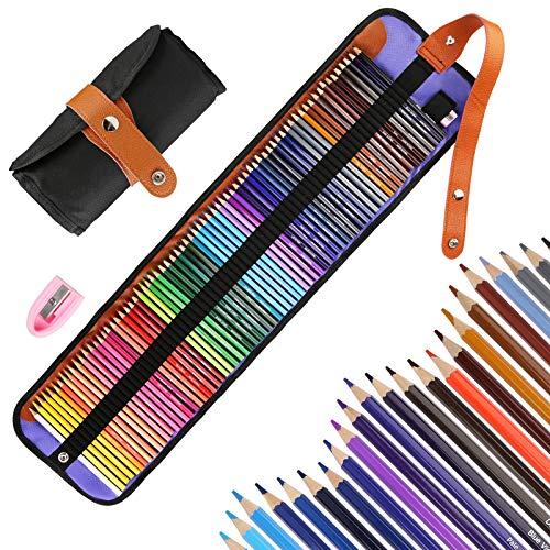 Vegena Lápices de Color 72 Colores Lapiz para Colorear de Dibujo y Bosquejo Material de dibujo Set Ideal para Artistas Profesionales, Adultos y Niños