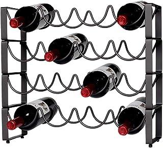 PQXOER-HO vinställ våg vinställ vin display rödvin hylla bar vinflaska dekoration smidesjärn kreativ europeisk vardagsrum ...