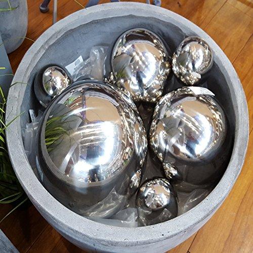 Dekokugeln Gartenkugeln Rosenkugeln Schwimmkugeln vers. Größen Edelstahl Kugeln (10 cm)