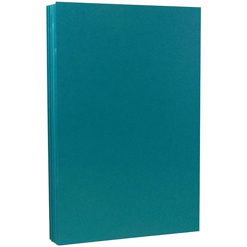 JAM PAPER Legal Matte 80lb Cardstock - 8.5 x 14 Coverstock - Teal Blue - 50 Sheets/Pack