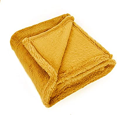 50x60 SARO LIFESTYLE TH132.N5060 Classic Design Throw with Sherpa Natural